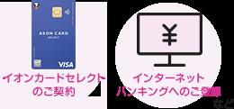 イオンカードセレクトのご契約、インターネットバンキングへのご登録など
